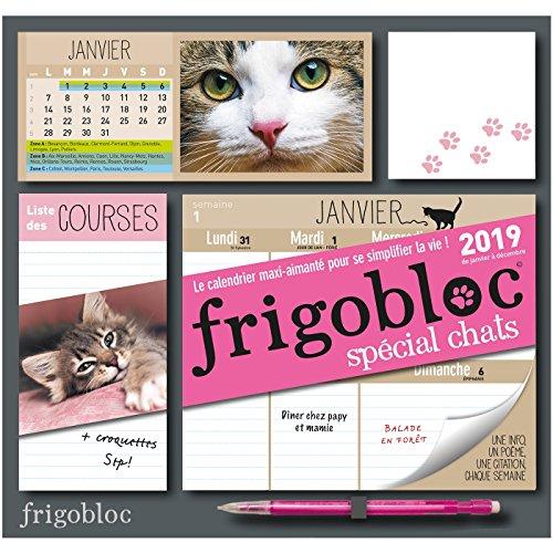 Frigobloc 2019 spécial Chats - Calendrier d'organisation familiale (P.BAC FRIGOGAMM)