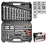 YATO yt-38831 Socket Set 1/10,2cm 3/20,3cm und 1/2111pcs