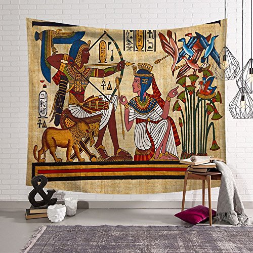 L&LQ Tapiz Antiguo Egipto Serie Inicio Colgante Tapiz de Pared Tela Decorativa, 2, 150x130