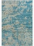 Benuta Teppich Vintage Velvet Blau 200x290 cm - Vintage Teppich im Used-Look