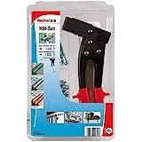 fischer Montage Set - Hohlraumbefestigung mit Montagezange für das schnelle, komfortable Setzen der Hohlraum-Metalldübel HM in Plattenbaustoffen - 61 Teile - Art.-Nr. 531389