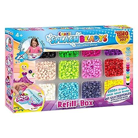 CRAZE SPLASH BEADYS Refill-Box Nachfüllpack Girls Ersatzperlen Zubehör Perlen zum Stecken Bügelperlen ohne Bügeln 59440