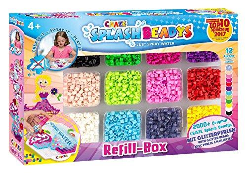 Craze 59440 - Splash Beadys Refill Box Girls, mit Perlen und Zubehör