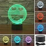 Drool Bunte 3D Emoticon Acrylic Visual Berühren Tischleuchte Bar Art Decor Kreative USB LED Schreibtischlampen 3D-TD97