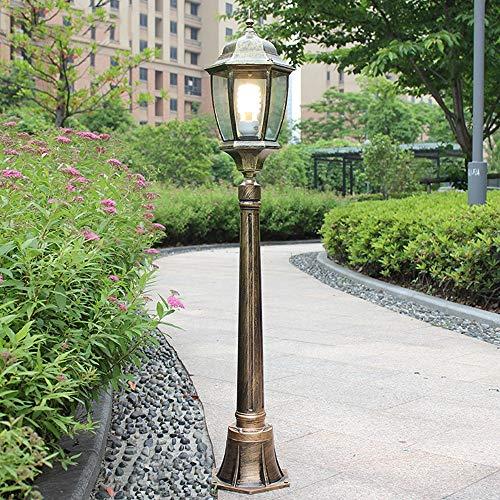 Pointhx Europäische Wasserdichte LED Landschaft Licht Haltbare Metall Aluminium Terrasse Spalte Lampe Kreative Hexagon Rasen Leuchte für Villa Garage Halle (höhe 120 cm) - Haltbare Aluminium-metall -