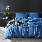 Bonner Bedding Bettbezug Set Duvet Bettbezug & Kissenbezug Bettwäsche-Set Alle Größen,Blue,Single