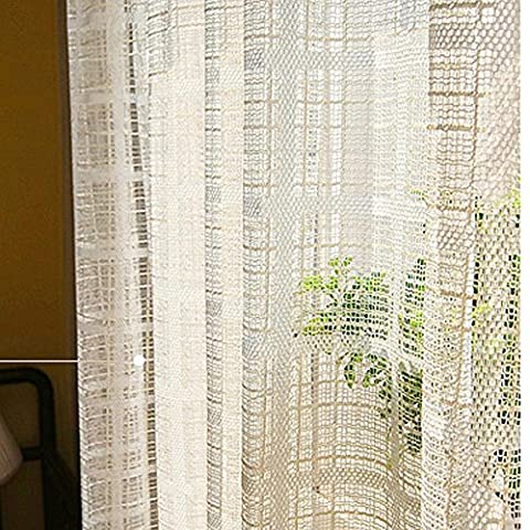Gauze Cotton and Linen Simple Modern Style Pure Color Screens Living Room Bedroom Floating Window Curtains Sheer Curtains 100cmx270cm(40x108-inch)-1 Piece ,