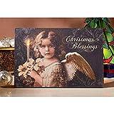 Design Toscano OW46414 Weihnachtssegen-Engel Beleuchteter Wandteppich, Wandteppiche, Andere, Mehrfarbig, 1,25 x 2,5 x 37 cm