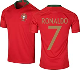 Step Shoes Red Portugal Jersey World Cup 2018(Ronaldo Football Jersey-Ronaldo t Shirts for Men)