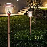 Solar Erdspieß Leuchte ↥660mm/ Dämmerungs Sensor/ LED/ Kupfer/ Metall/ AUSSEN Lampe Garten Aussenlampe Aussenleuchte Erdspießlampe Erdspießleuchte Gartenlampe Gartenleuchte Solarlampe Solarleuchte