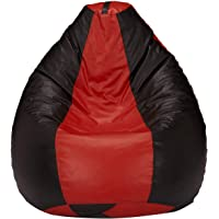 Amazon Brand - Solimo XXL Bean Bag Cover Without Beans (Red and Black)