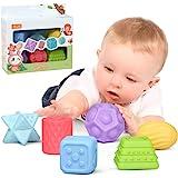 Juguetes para bebés Bolas de apilamiento para bebés de 0 a 6 meses, Juguetes educativos de compresión suave, Juguetes para ma