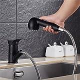 FHLYCF küchenarmatur granit, waschbecken, kupfer an kalten und warmen wasser, quarzsand sprengen, hafer schwarz durch wasserhahn,ein