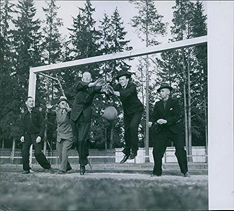 Vintage photo of Men playing