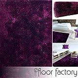 floor factory Moderner Teppich Seasons lila/violett 80x150 cm - flauschig weicher Hochflor Teppich in aktuellen Trendfarben