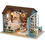 KKmoon - Casa de muñecas de madera, kit de montaje para decoración del hogar
