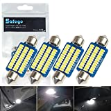 Safego 4x C5W 42mm 211 578 12844 LED 3014 36SMD Lampadine Bianco Led per Luci Interne Auto o Targa a LED Bulbi DC 12V DE440 6000K