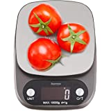 Journeys Digital Food Kitchen Scale High Accuracy Electronic Food Weight with Large LCD Display Chrome Plated Platform