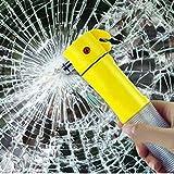 Brie Fuchi Gurtschneider,Auto-Notfall-Sicherheitshammer Flucht 4 in 1 Sicherheitsgurt Cutter Fenster Breaker Auto Flash Taschenlampe Hammer EscapeTool
