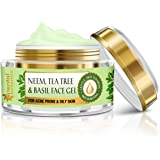 Oriental Botanics Neem, Tea Tree And Basil Anti Acne Night Face Night Gel Cream - For Oily Skin, 50g