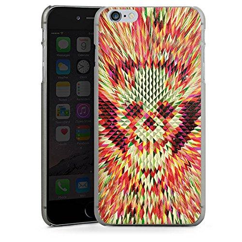Apple iPhone X Silikon Hülle Case Schutzhülle Geo Skull Totenkopf Schädel Hard Case anthrazit-klar