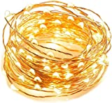 Mrdigital Angelina 2 of 5M 50 LEDs Battery Powered String Lights Silver Wire Fairy Lights Christmas Decoration Indoor Use Warm White