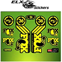 Pegatinas HORQUILLA FORK FOX 36 PERFORMANCE ELX58 STICKERS AUFKLEBER AUTOCOLLANT ADESIVI BICICLETA CYCLE MTB BIKE (AMARILLO/ YELLOW)