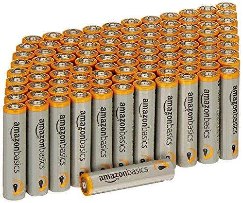 AmazonBasics Alkalibatterien, leistungsstark, AAA, 100 Stück