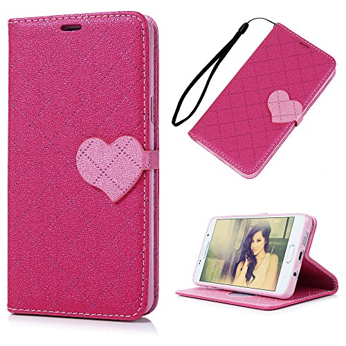 galaxy-a5-2016-case-maxfeco-premium-pu-leather-wallet-case-cover-pink-peach-heart-magnetic-clasp-fli