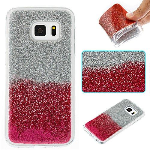 Ooboom® Samsung Galaxy S7 Hülle TPU Silikon Gel Luxus Weich Dünn Handy Tasche Case Bumper Schutz Cover für Samsung Galaxy S7 - Rose Silber