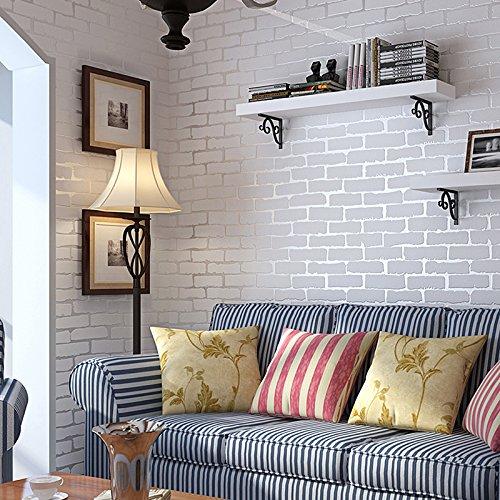 Simulation Stein Brick Muster Tapete weiß Kultur Wohnzimmer TV Hintergrund Wand Papier Kleidung STORE Vliesfasertapete