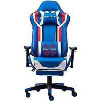 NOKAXUS Gaming-Stuhl Bürostuhl Größe hohe Rückenlehne ergonomischer Rennsitz mit Massage Lendenwirbelstütze und…