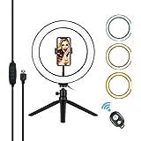 LED-ringljus med stativ, 25,4 cm, för smink, video, live-telefon, selfie, dimbar, 3 ljuslägen och 10 ljusstyrkenivåer för You