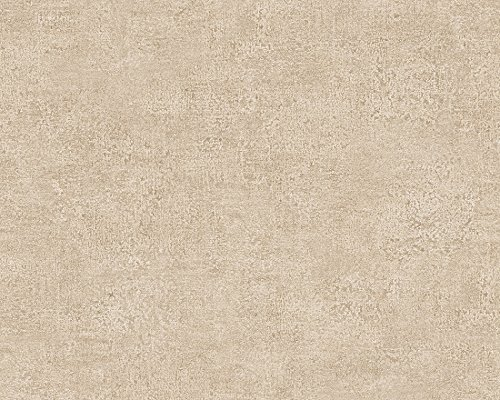 A.S. Création Vliestapete Bohemian Burlesque Tapete Uni 10,05 m x 0,53 m beige Made in Germany 960794 96079-4