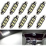 Everbright 10pcs blanc C5W 36MM 5730 6SMD LED Canbus aucune erreur ne feston dissipateur de chaleur de la lampe pour carte Light / plafonnier / Trunk Light / lumière boîte à gants