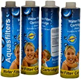 "9"" Aqua filter sediment filter 4 pc set for aquaguard nova"