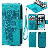 Geniric iPhone SE Case,iPhone 5 5S Case, Wallet Case PU