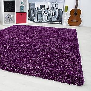 Gästezimmer Mit 3 Cm Florhöhe. Einfarbig Shaggy Teppiche OEKOTEX  Zertifizierte Teppiche. Cream Braun Lila Rot Anthrazit Taupe Mocca.
