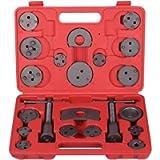 ANFAHR Universal Brake Caliper Piston Rewind Kit Wind Back Tool Set for Brake Pad Replacement Set of 22 PCS. (Red)