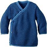 Disana Melange-Jacke aus Merino-Schurwollstrick kbT für Babys (62/68, Blau)