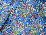 Tela de algodón para vestido de verano, tela de algodón puro serigrafiada