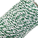 100M Wrap Gift Cotton Rope Ribbon Twine Rope Cord String Green