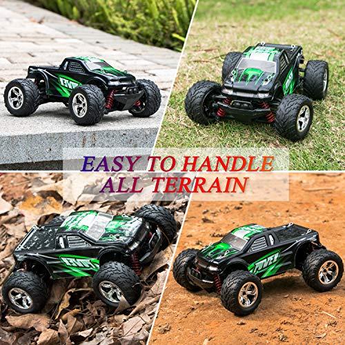 RC Auto kaufen Truggy Bild 5: MaxTronic RC Cars, RC Auto Rock Offroad Racing Fahrzeug Crawler Truck 2,4 Ghz 4WD High Speed 1:20 Radio Fernbedienung Buggy Elektro Fast Race Hobby- Blau (Grün)*
