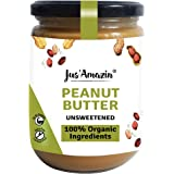 JUS' AMAZIN Organic Peanut Butter All Natural - UNSWEETENED | 100% Organic Ingredients | Vegan (500 g)
