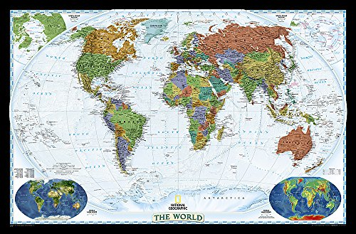 World Decorator, Enlarged & Tubed: NG.PW622078 (National Geographic Reference Map)