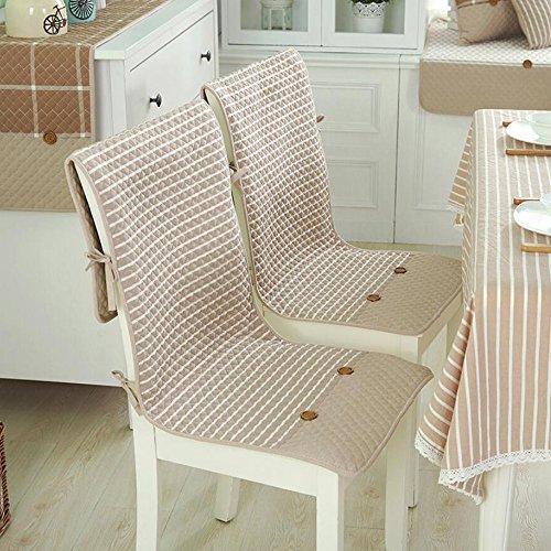 Dekorative Baumwolle Kissen Hochlehner dünn Hohe Rückenlehne Sitz Kissen Rutschfest Stuhl mit Befestigungsbändern Taschen für Küche Esszimmerstuhl 2-er Set, baumwolle, Coffee Background, Einheitsgröße -