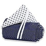 babybay Nestchen Organic Cotton für Maxi, Boxspring und Comfort, weiß Sterne blau