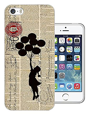 505 - Banksy Graffiti Floating Balloons Stamps Design iphone SE - 2016 Fashion Trend Protecteur Coque Gel Rubber Silicone protection Case Coque