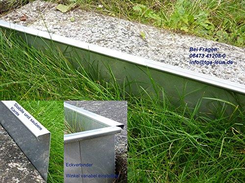 5er Sparset Stabile Rasenkanten Kiesleiste Beeteinfassung aus Edelstahl rostfrei