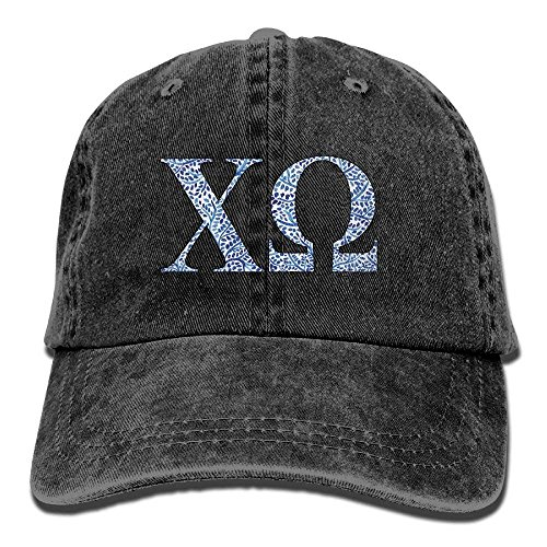 U-Only Chi Omega Blue Plant Adult Sport Adjustable Structured Baseball Cowboy Hat (Omega Baseball)